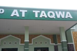 jasa pembuatan papan nama huruf timbul masjid